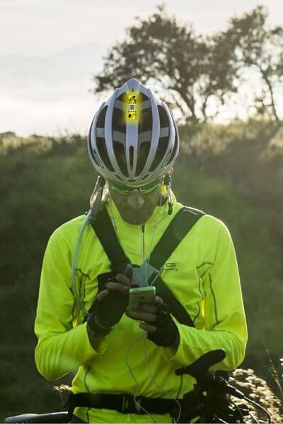 etiqueta identificadora NFC ciclista
