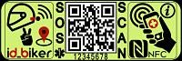 etiqueta NFC codigo QR para motoristas