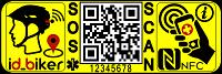 etiqueta NFC código QR para ciclistas