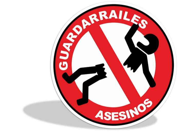 Logo de guardarrailes asesinos